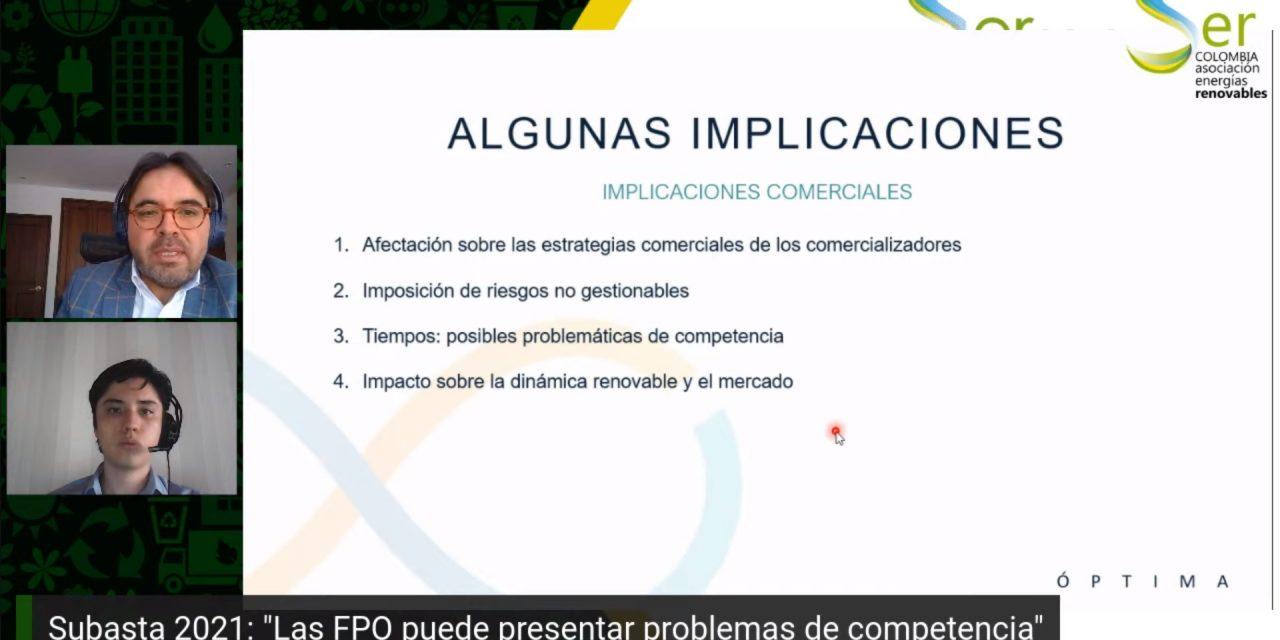 Advierten que algunas condiciones de la subasta de renovables de Colombia impactarían negativamente sobre el mercado