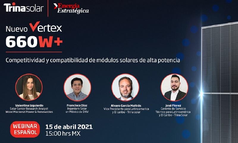 Trina Solar presentará su nuevo módulo solar VERTEX 660 W + en Latinoamérica