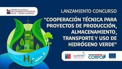 Lanzan concurso de cofinanciamiento para estudios de preinversión en proyectos de hidrógeno verde en Chile