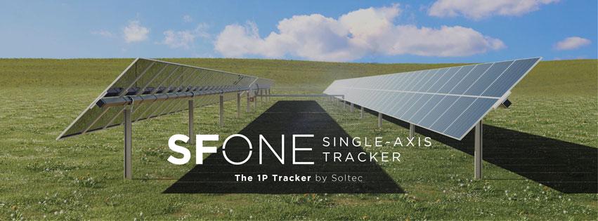 Soltec presenta su seguidor solar «SFOne» 1-en-vertical con dos filas conectadas