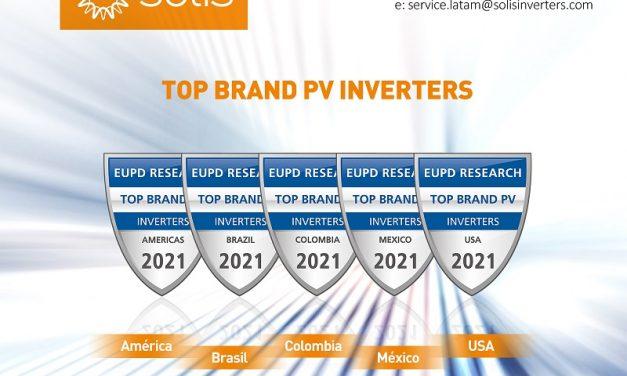 Ginlong Solis recibe el premio Top PV Brand 2021 para inversores en los principales países de generación fotovoltaica en América