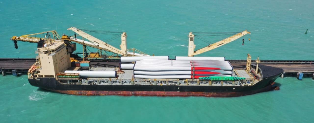 Llegaron las primeras turbinas eólicas a La Guajira colombiana