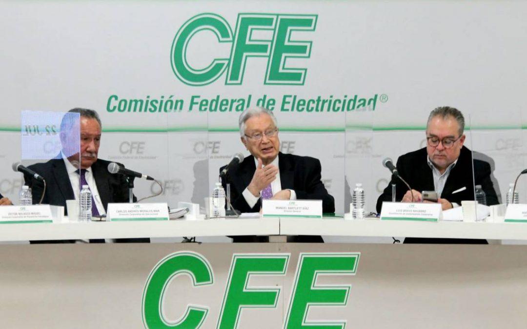 CFE pedirá suspender renovables «sin avances constructivos» o que generen riesgos al sistema