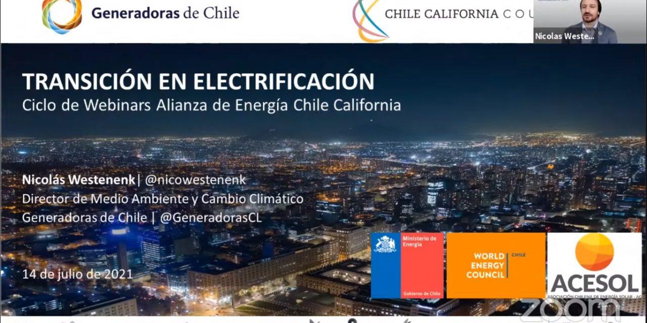 Generadoras de Chile y un análisis sobre la electrificación en sectores transporte, industria y comercial
