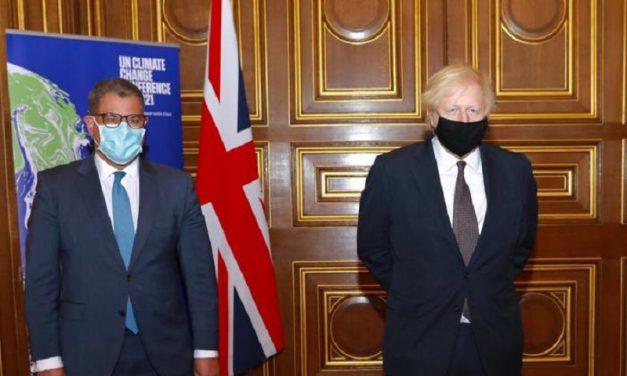 Reino Unido insta a los países a aumentar su ambición frente al cambio climático antes de la COP26