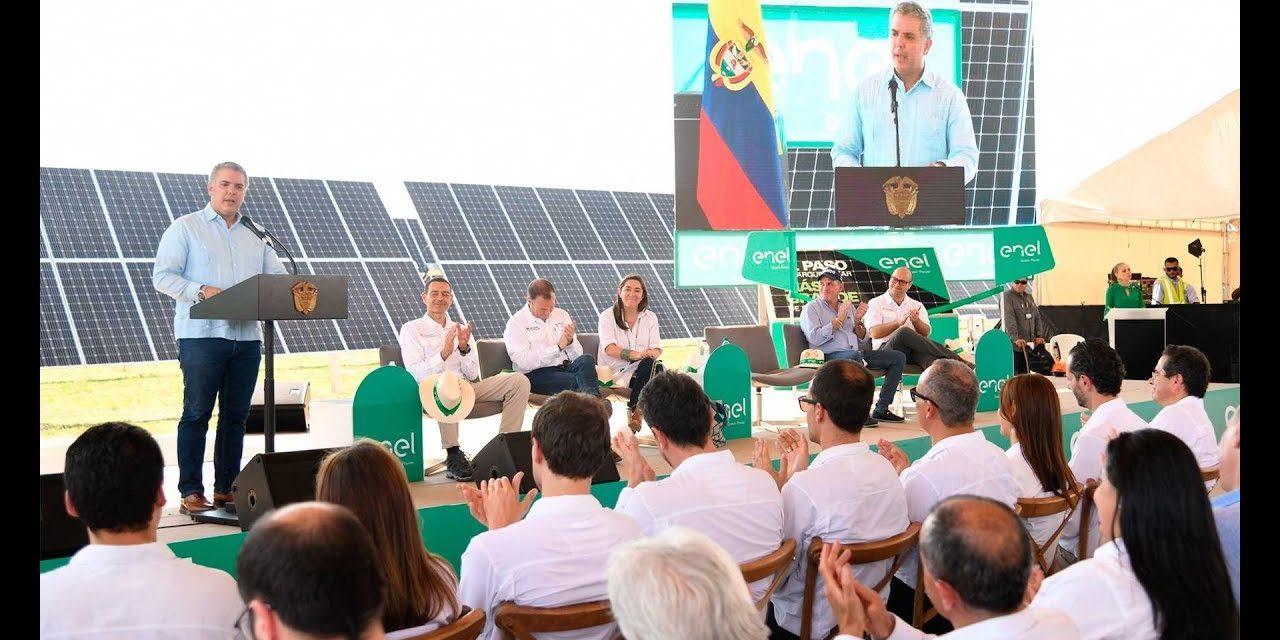 Enel construirá 750 MW renovables hacia 2023 mientras avanza con el parque solar más grande de Colombia