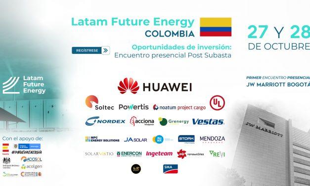 Entradas agotadas para Latam Future Energy Colombia con los líderes de la subasta de renovables en un evento presencial en Bogotá