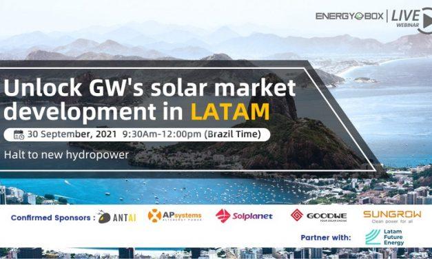 Webinar: Cómo impulsar Gigavatios de energía solar por Latinoamérica